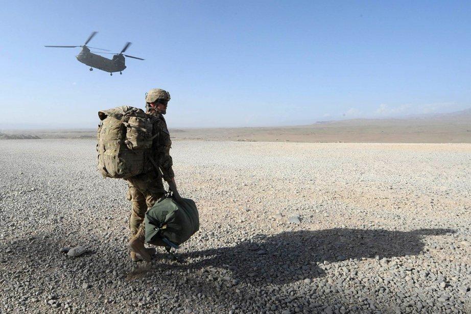 Un soldat américain en Afghanistan.... (Photo: AFP)