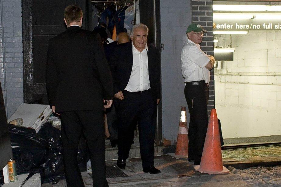 Les quatre convives sont sortis par une porte... (Photo: Allison Joyce, Reuters)