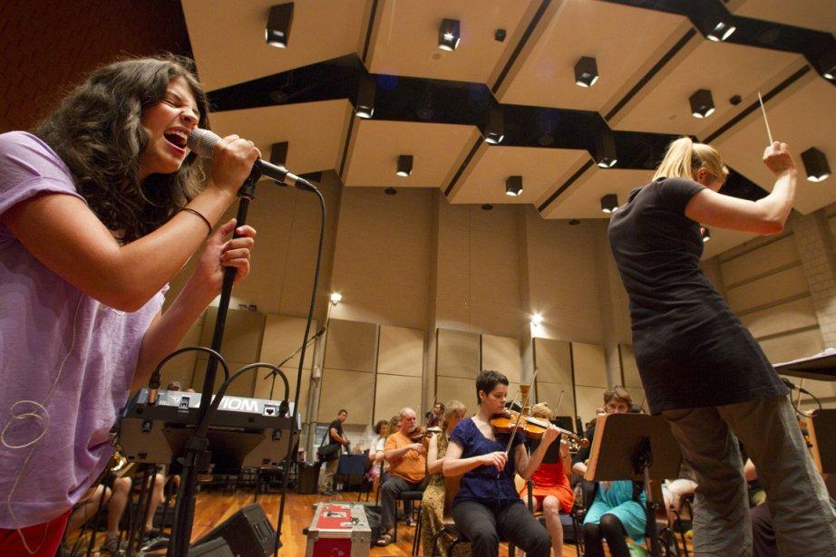 Nikki Yanofsky, ci-dessus lors des répétitions.... (Photo Ivanoh Demers, La Presse)