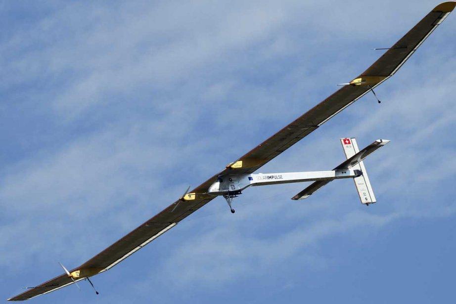 L'avion expérimental suisse propulsé à l'énergie solaire Solar... (Photo AP)