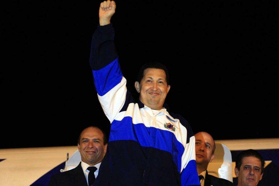 La lutte contre le cancer menée par le président vénézuélien Hugo Chavez...