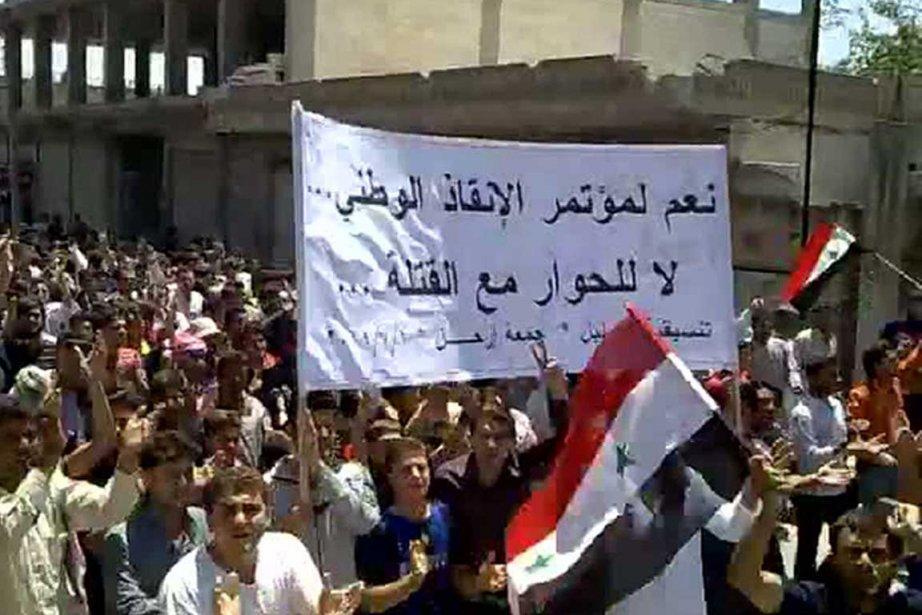 Des images de la rue syrienne en juin... (Photo AFP)