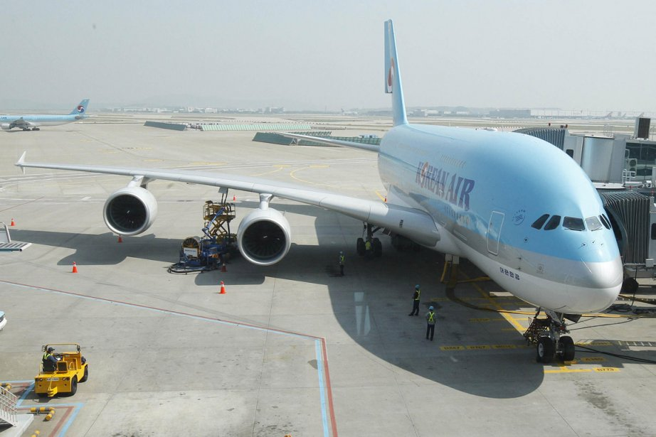 Un avion à l'aéroport d'Incheon, en banlieue de... (Photo: AFP)