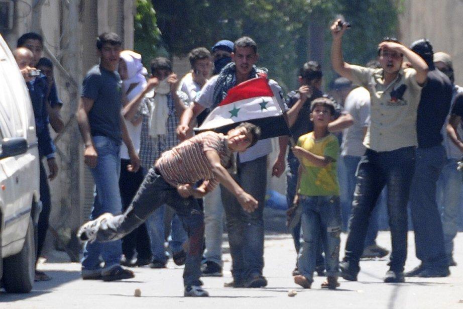 La violence continue de s'étendre en Syrie. Sur... (Photo AFP/fournie par le gouvernement syrien)