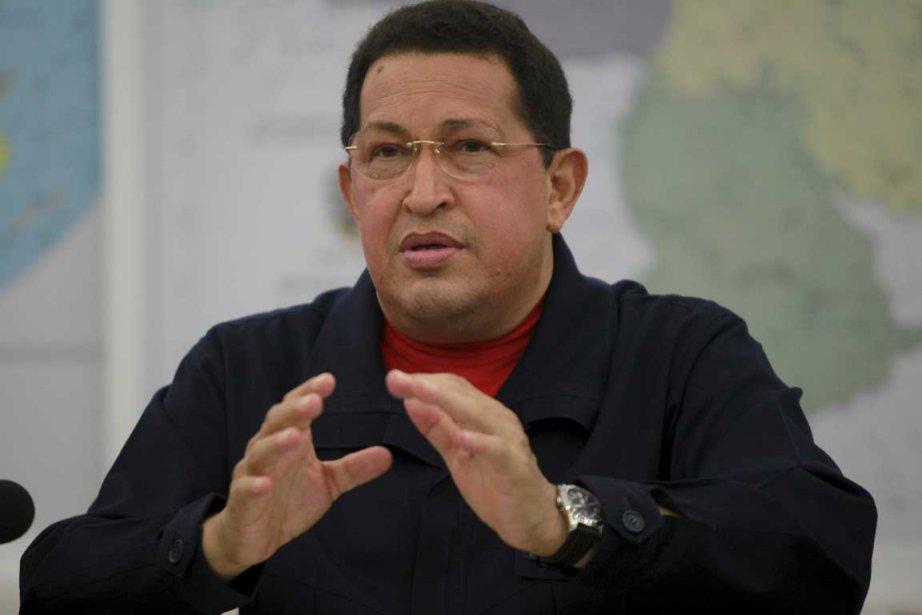 Hugo Chavez, 56 ans, a été opéré d'une... (Photo AFP)