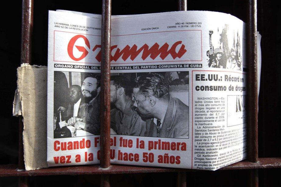 L'information, affirme Granma, est «un droit du peuple»,... (Photo: Reuters)