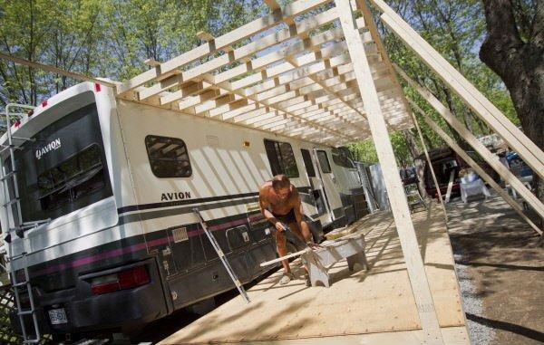 Le camping Au Domaine de Rouville, en Montérégie.... (Photo Ivanoh Demers, La Presse)
