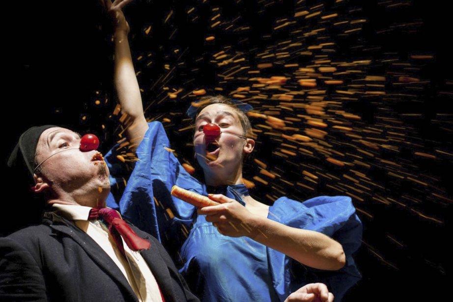 Les Irlandais Jaimie Carswell et Nancy Trotter ont... (Photo: Colin Gillen, fournie par Montréal complètement cirque)