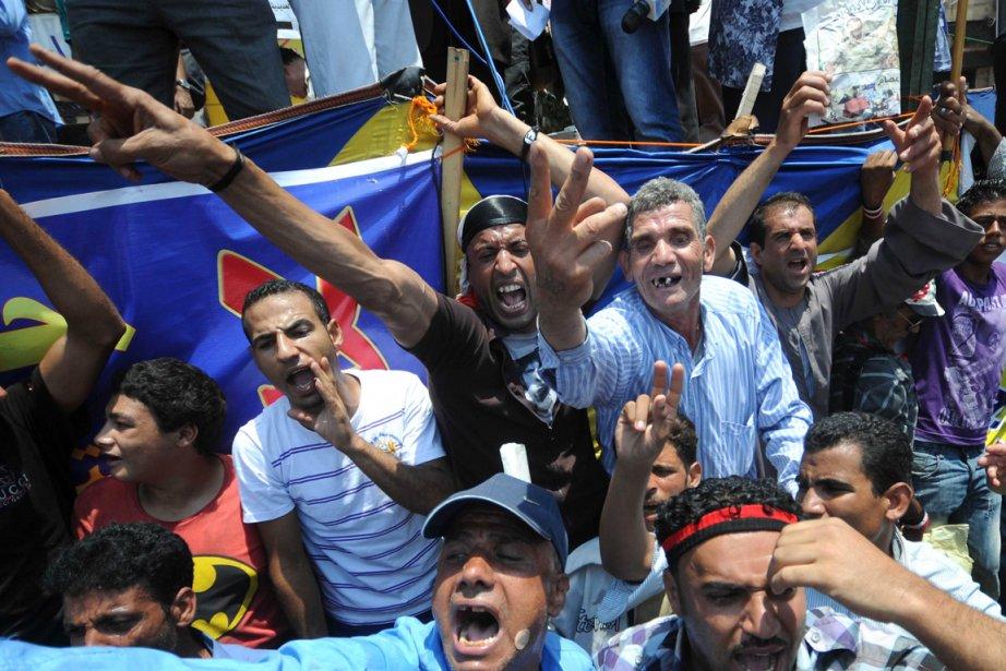 Les manifestants égyptiens sont de retour sur la... (Photo: Mohamed Hossam, AFP)