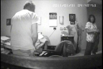 Sur les extraits d'une vidéo qui a été... (Photo fournie par Jacqueline Rioux, conjointe de la victime.)