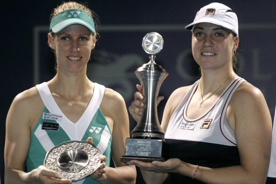 Kleybanova (à droite) a remporté le tournoi de... (Photo: Lai Seng Sin, AP)