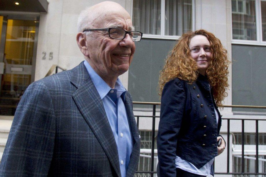 Rupert Murdoch en compagnie de Rebekah Brooks.... (Photo: Olivia Harris, Reuters)