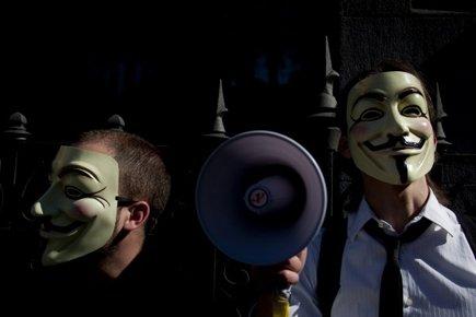 Le réseau social d'Anonymous aurait été piraté.... (Photo: AP)