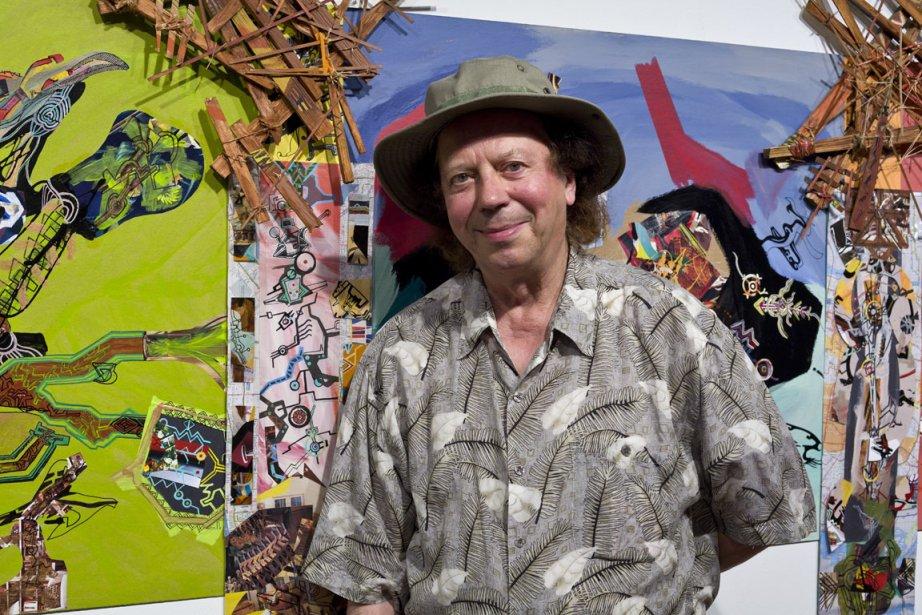 Raymond Dupuis présente dans une longue fresque en... (Photo fournie par Raymond Dupuis)