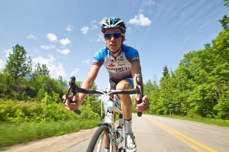 David Boily est le premir cycliste canadien à... (Photo: Hugo-Sébastien Aubert, La Presse)