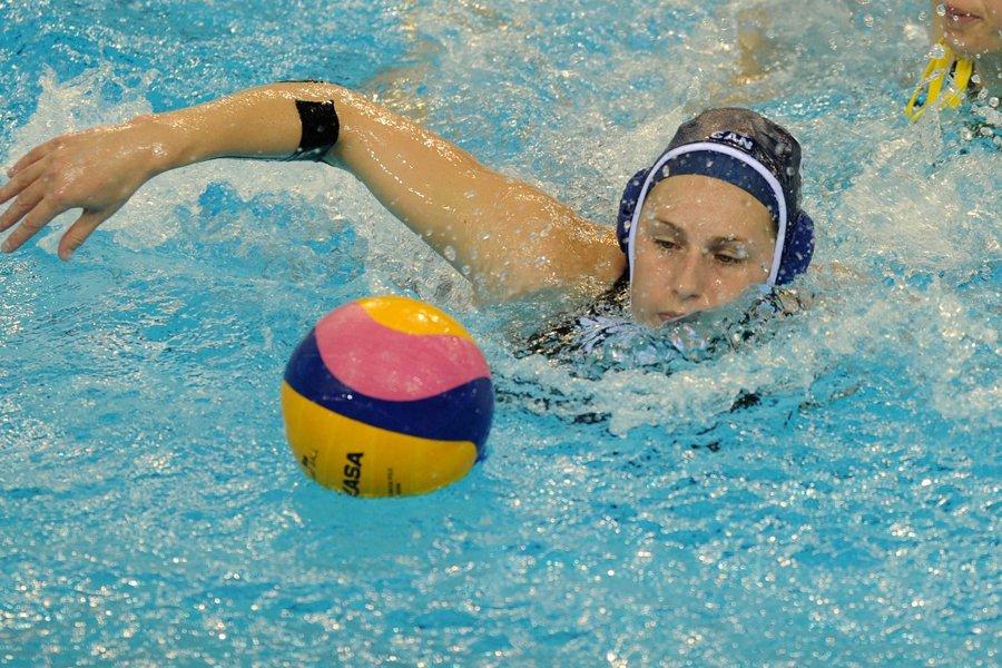 Emily Csikos a inscrit quatre buts dans la... (Photo: AFP)