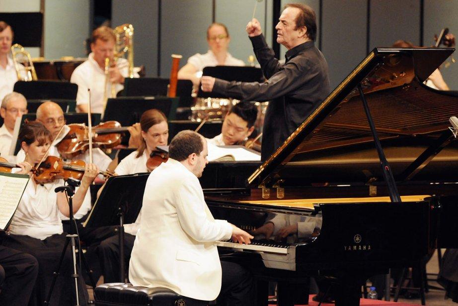 Le pianiste russe Kirill Gerstein jouant Rachmaninov avec... (Photo: Christina Alonso, Festival de Lanaudière)