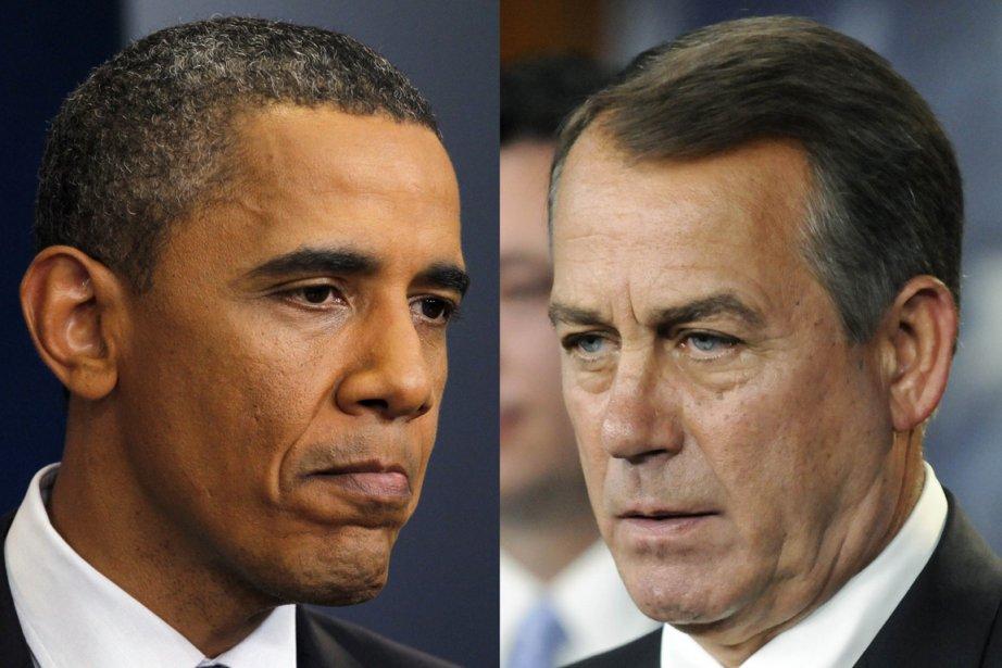 Barack Obama et John Boehner... (Photos Reuters)