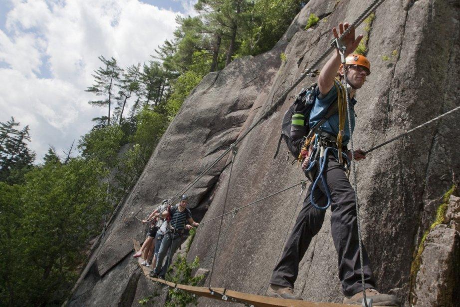 L'activité-vedette de Mont-Tremblant: un parcours   ... (Photo Hugo-Sébastien Aubert, La Presse)