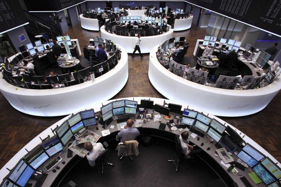 Le parquet de la Bourse de Francfort.... (Photo Reuters)