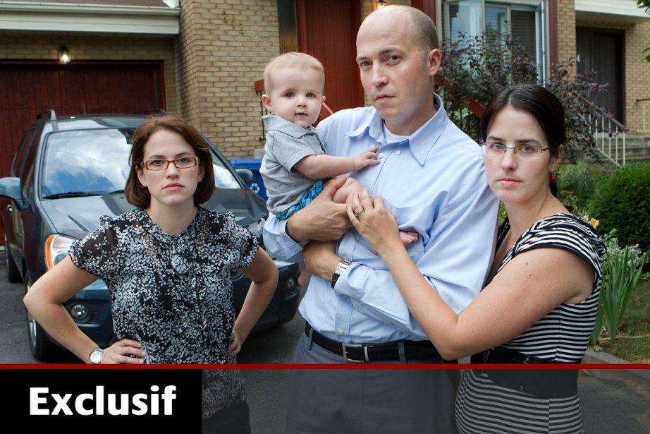 Les deux familles qui ont frôlé la mort,... (Photo: Robert Skinner, La Presse)