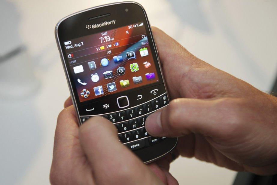 Un téléphone BlackBerry... (Photo: Reuters)