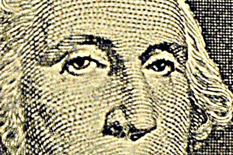 George Washington tel qu'il apparaît sur le billet... (Photo AFP)