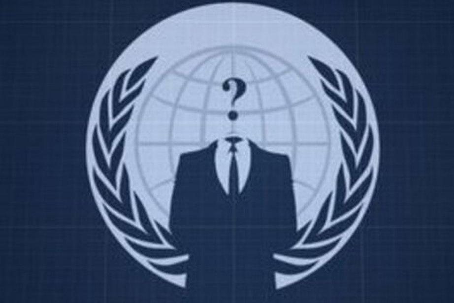 Logo du groupe Anonymous...