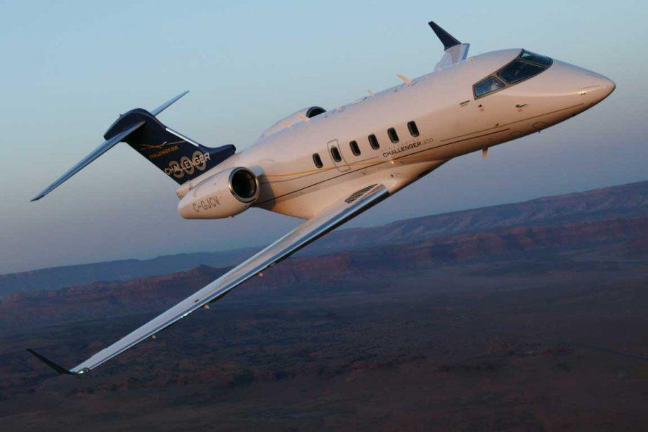 Un Challenger 300 de Bombardier.... (Photo fournie par Bombardier)