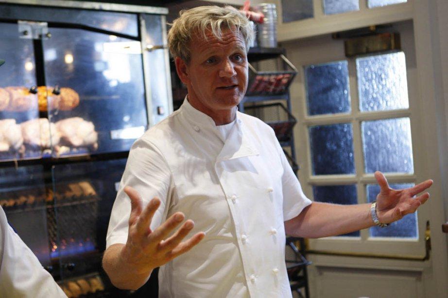 Le chef Gordon Ramsay dans son nouveau restaurant... (Photo: Martin Chamberland, La Presse)