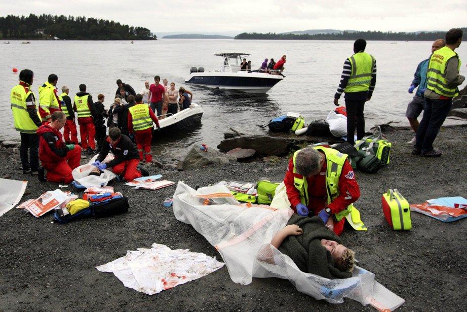 Anders Breivik s'est fait passer pour un policier... (Photo: AFP)