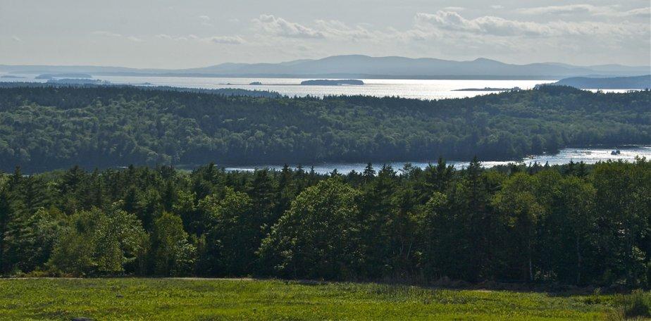 En haut d'une côte, la vue apparaît, spectaculaire: des îles vertes éparpillées dans l'Atlantique, dont Deer Isle, accessible par un pont suspendu. (Hugo de Grandpré, La Presse)