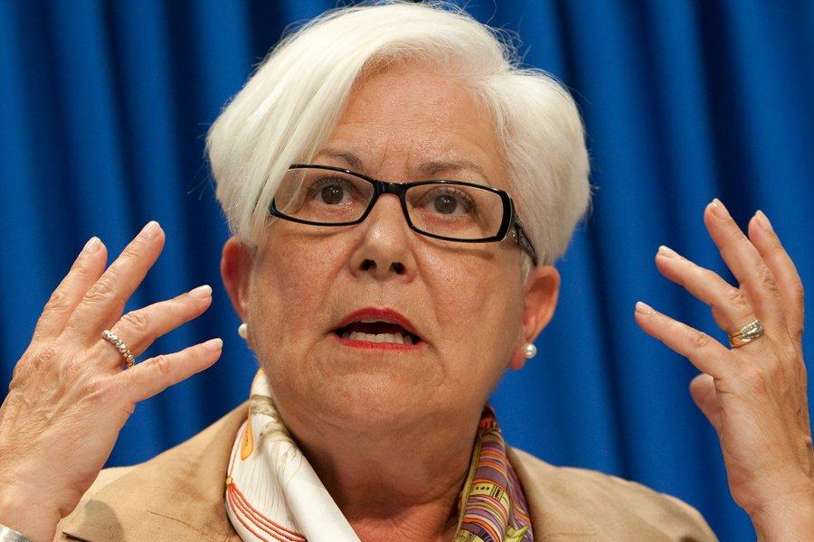 La chef du parti de l'opposition Vision Montréal,... (Photo: Hugo-Sébastien Aubert, La Presse)