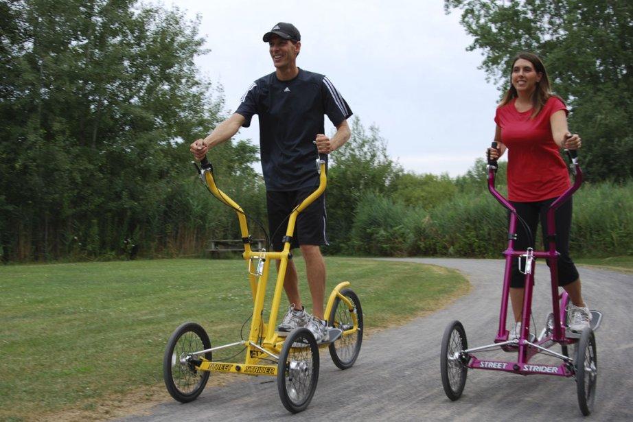 L'appareil elliptique se métamorphose avec l'ajout de trois... (Photo: Simon Diotte, collaboration spéciale)