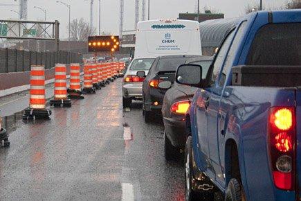 À Montréal, les problèmes de circulation, amplifiés par... (Photo: David Boily, archives La Presse)