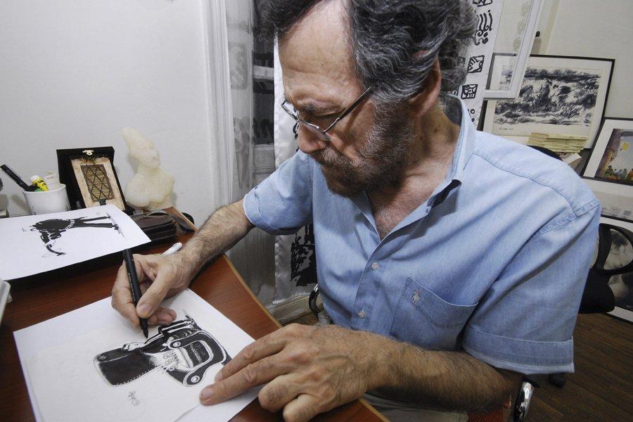 Le caricaturiste syrien Ali Ferzat.... (Photo: AP)