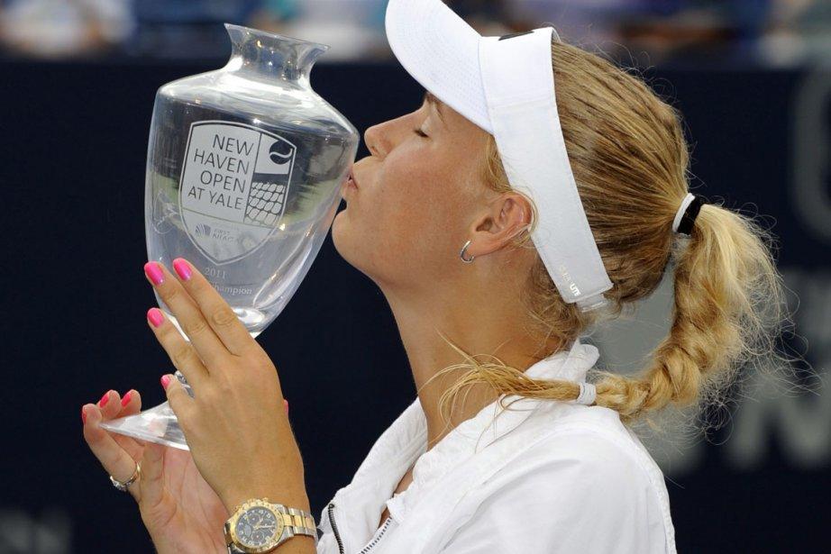 La favorite du tournoi de New Haven Caroline... (Photo: Fred Beckham, AP)