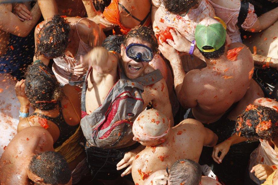 La Tomatina, fête de la tomate, a lieu chaque année en Espagne. | 31 août 2011
