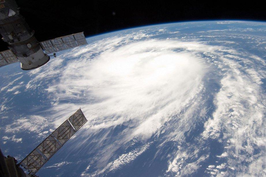 L'ouragan Katia photographié depuis l'ISS, le 31 août... (Photo: NASA)