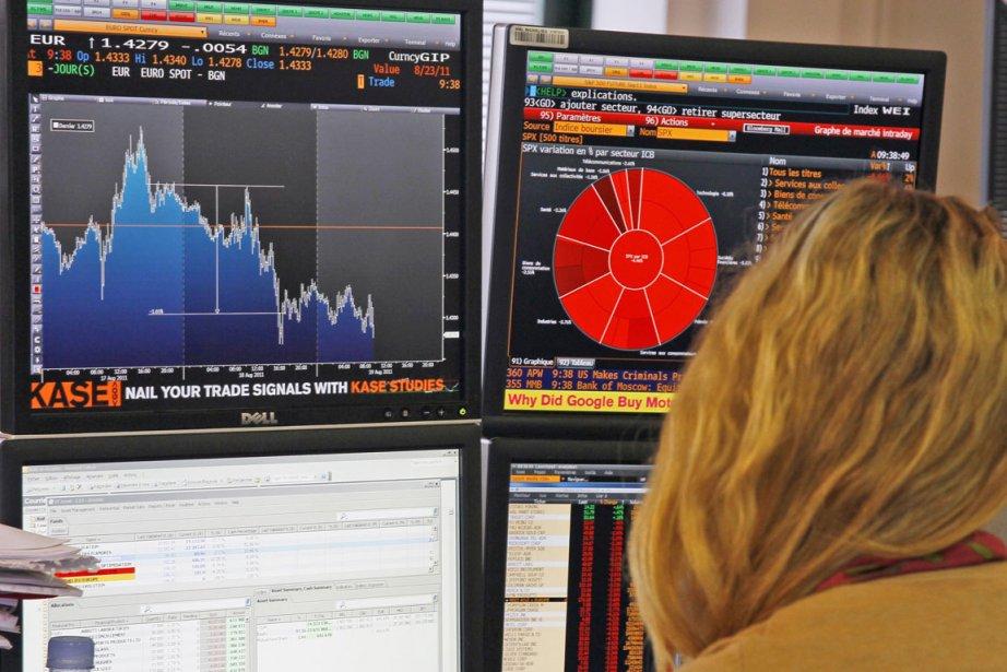 Vers 6h20 (heure de Montréal), la Bourse de... (Photo: AP)
