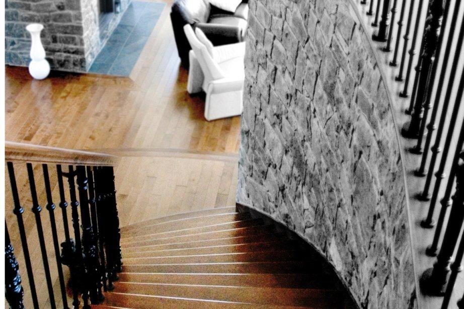Pour teindre un escalier, il est préférable d'utiliser... (Photo fournie par Dava)