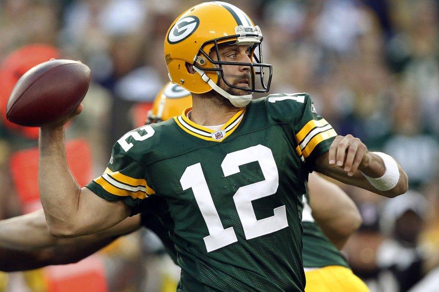 Le quart des Packers de Green Bay, Aaron... (Photo: AP)