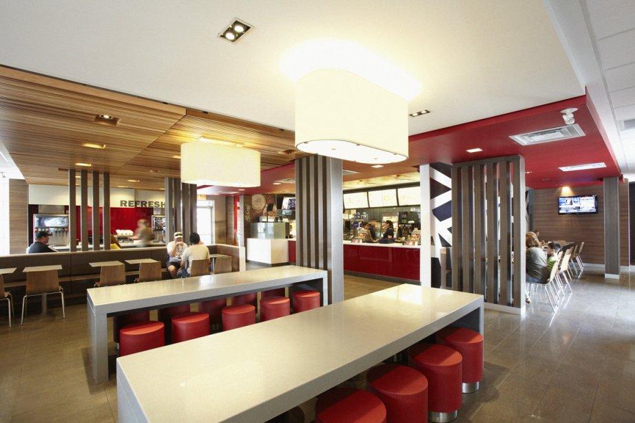 D'ici la fin de 2012, l'intérieur des 1400... (Photo fournie par McDonald's)