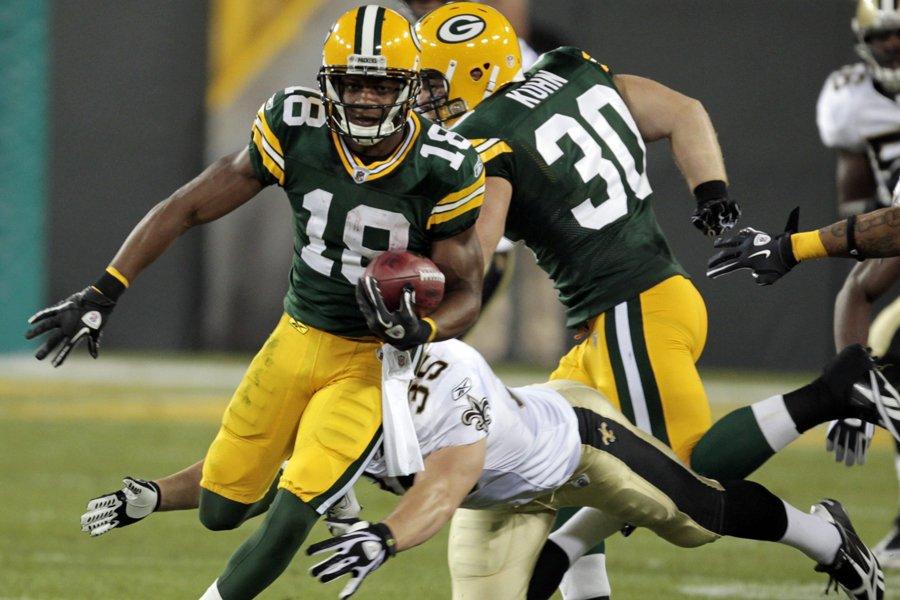 La recrue Randall Cobb, des Packers de Green... (Photo: AP)