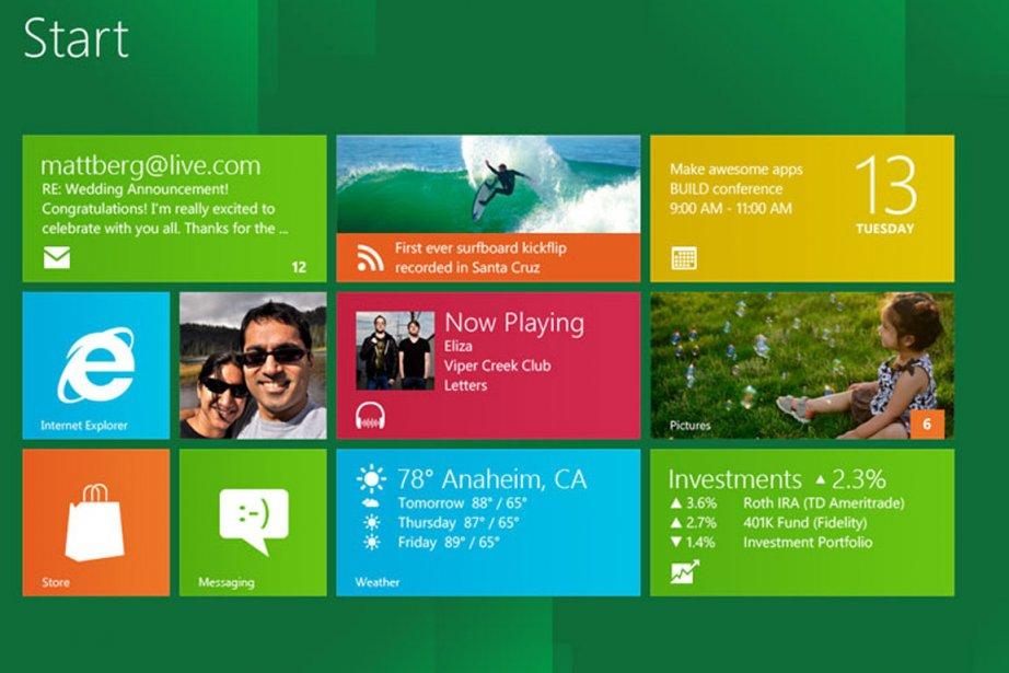 Un aperçu de l'interface de Windows 8.... (Photo: Microsoft)