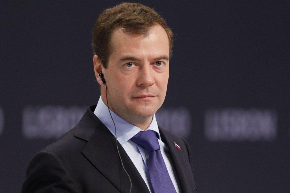 Le président de la Russie, Dmitri Medvedev.... (Photo: Armando Franca, AP)