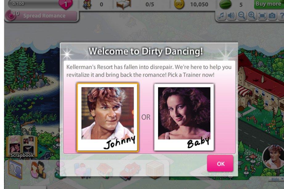 Le jeu Dirty Dancing sur Facebook.... (Photo: apps.facebook.com/dirtydancinggame)