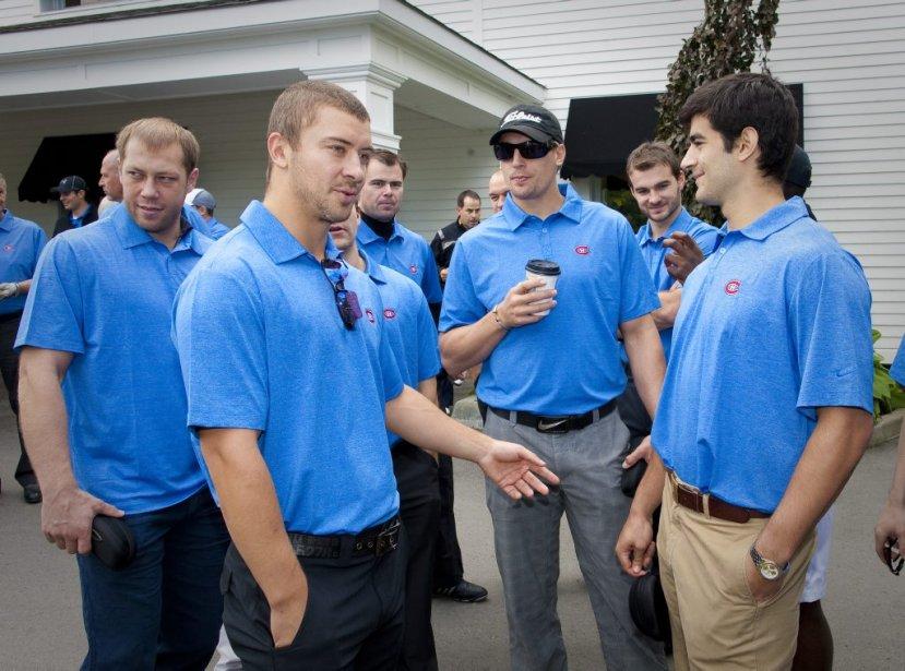 Andrei Kostitsyn, Josh Gorges, Travis Moen et Max Pacioretty. | 14 septembre 2011