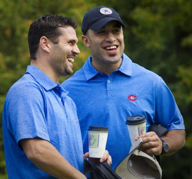 Brian Gionta et Scott Gomez | 14 septembre 2011