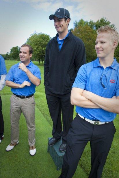 Geoff Molson, Carey Price et Lars Eller | 14 septembre 2011